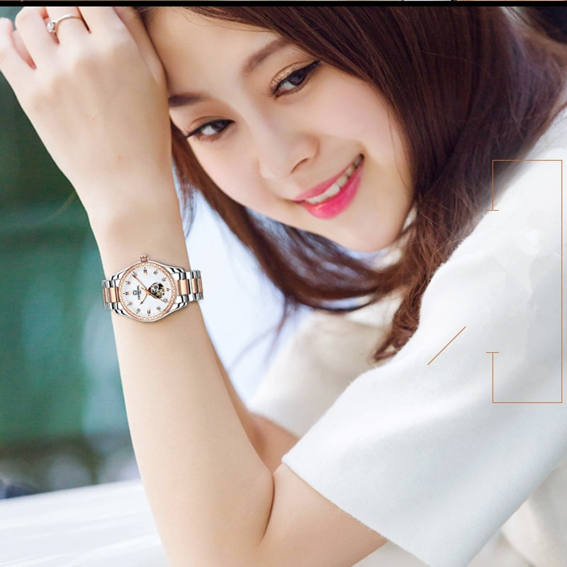 CARNIVAL Brand Ladies Automatic Watches Women Fashion Luxury Waterproof Luminous Hollow Mechanical Wristwatches Relogio Feminino enlarge