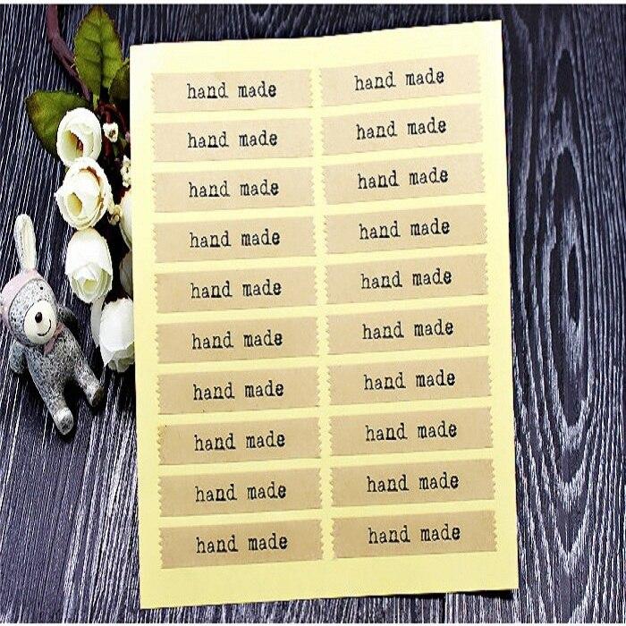 20 unid/set etiqueta adhesiva de sellado para caramelo Caja de galletas bolsa de papel de chocolate Paquete de Regalo boda fiesta favor DIY tira hecha a mano