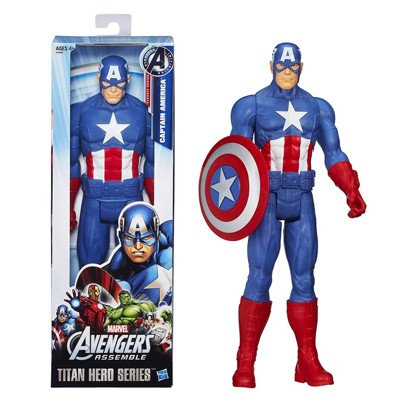 28Cm Marvel Avengers Toys Captain America Action Figure Dolls Toy Cartoon Assembled Captain America Collection Model Kids Toy