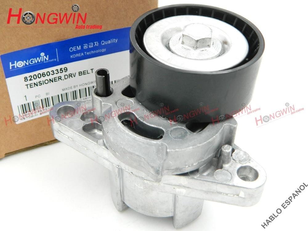 Original N. ° 8200603359 tensor de correa de transmisión compatible con Renault Clio Laguna Megane Scenic Espace Kangoo Thalia , 7700102872