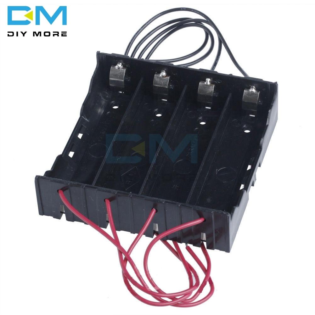 Kunststoff Batterie Halter Lagerung Shell Box Fall Für 4x 3,7 v 18650 Akku ABS Material Licht Bequem