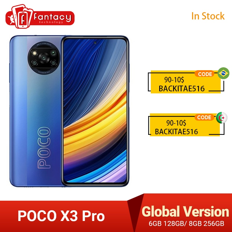 متوفر الإصدار العالمي من هاتف POCO X3 Pro الذكي NFC 33 واط لشحن الهاتف المحمول سنابدراجون 860 48 ميجابكسل كاميرا رباعية 6.67 بوصة 120 هرتز 5160 مللي أمبير