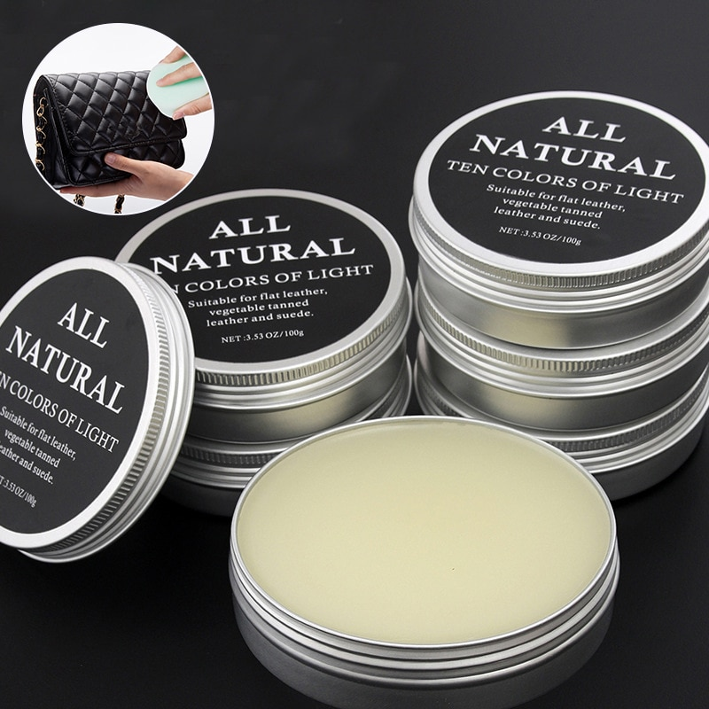30ml/100ml Mink Oil Cream For Leather Shoes Bags Leather Care Cream Practical Leather Maintenance Cr