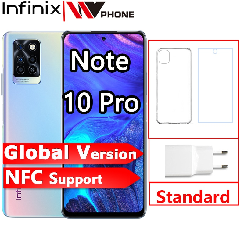 Infinix Note 10 Pro Global Version NFC Support 6.95'' Display Smartphone 33W Super Charge 5000 Battery Helio G95 64MP Camera