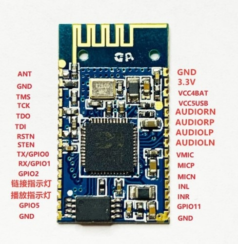 Módulo de Audio estéreo BK8000L AT Commands spp Bluetooth, transmisión por Bluetooth,...