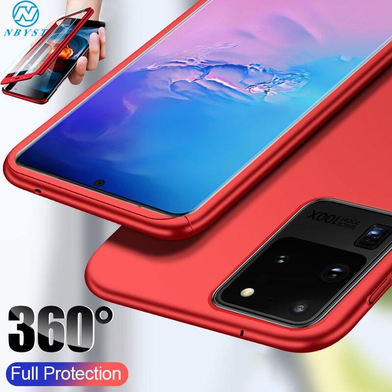 360 de la caja del teléfono protector para Samsung A51 A71 A50 A30 A20 A10 A70 funda para Galaxy A6 A8Plus A40 A60 M10 M20 M30 A9 A7 A5 A3