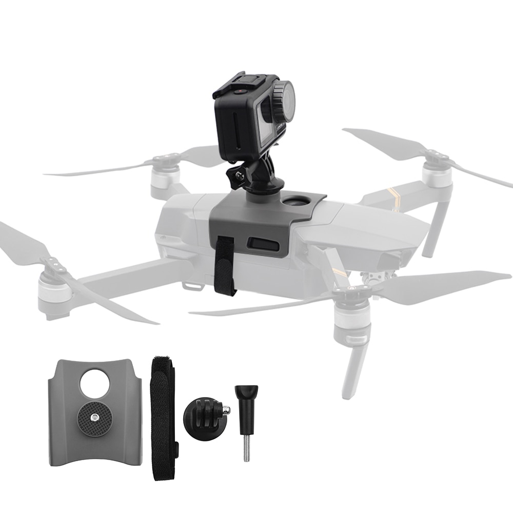 360 градусов держатель кронштейна для DJI Mavic 2 Pro Zoom Drone камера подставка Адаптер для Gopro аксессуары для спортивной камеры