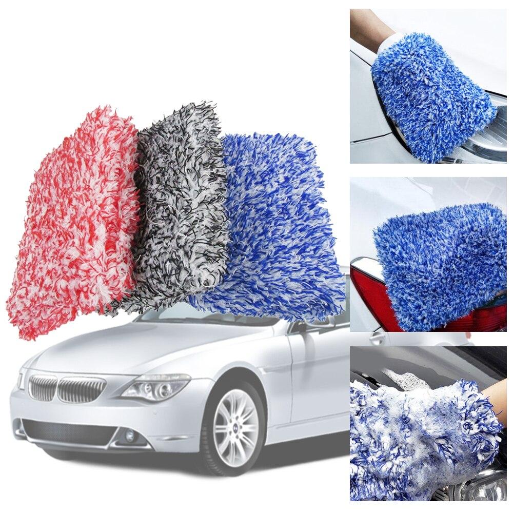 1pc Maximum Mitt High Density Auto Wash Cloth Ultra Super Absorbancy Car Sponge Plush Glove Microfiber Cleaning Towel