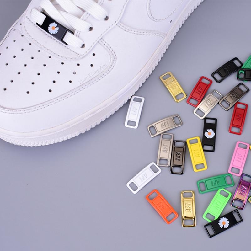2pcs/pair AF1 Shoelaces buckle Shoelace Buckle Metal Shoelaces Accessories Metal Lace Lock DIY Sneaker Kits Metal Lace Buckle