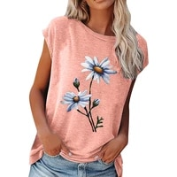 floral print short sleeved t shirt women summer fashion casual tee shirt ladies new loose round neck harajuku female clothes