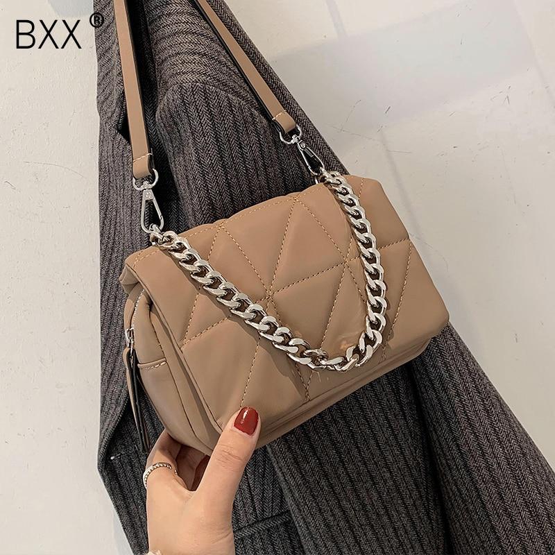 [BXX] Casual Oxford Chain Crossbody Bag For Women 2021 Fashion High Quality Lady Travel Luxury Shoulder Handbag and Purses HQ789