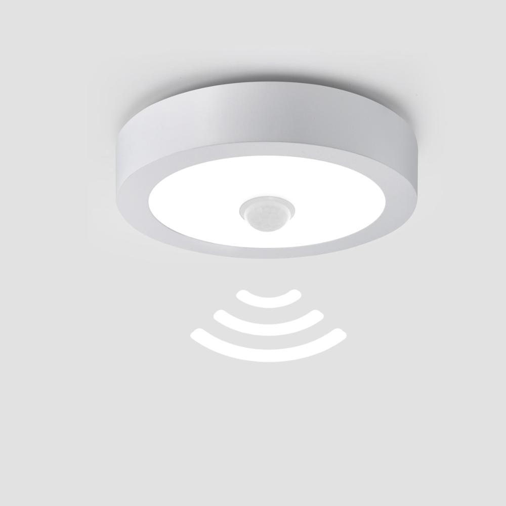 110v 220 plafond moderne à LEDs lampes pour couloir intelligent capteur de mouvement commutateur 18W 12W 6W Led nuit lampe maison escalier balcon éclairage