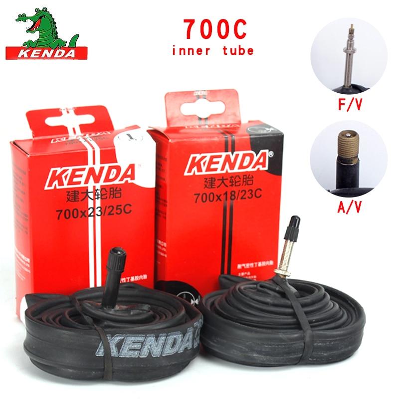 Kenda 700C велосипедные шины 700*18 23 25 28 32 35 43 45C MTB велосипедные части AV FV велосипедные бутилкаучуковые велосипедные внутренние трубы