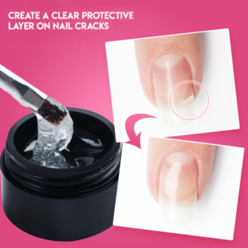 Cracked Broken Nails Extentions Repair Gel Treatment Manicure Base Coat Crack nail repair gel fix nail Transparent protective la