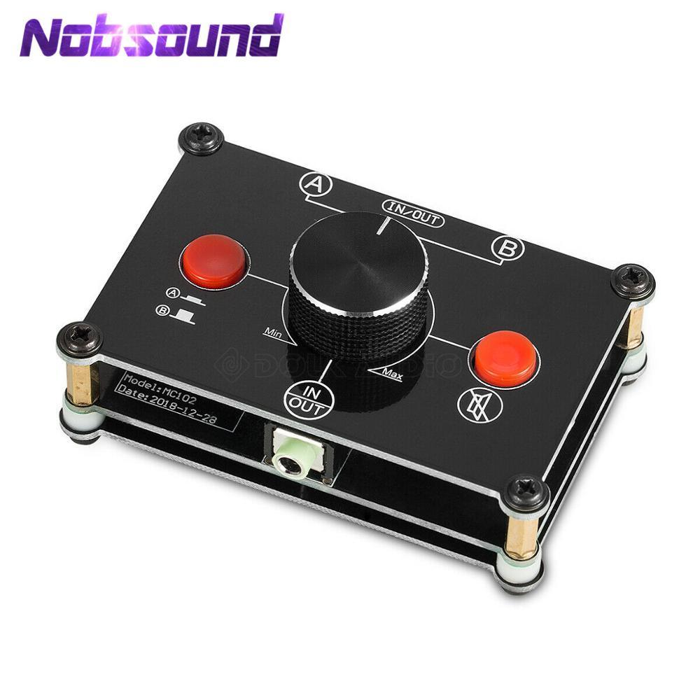 Nobsound Little Bear MC102 Mini 2 (1)-IN-1 (2)-OUT 3,5 мм стерео аудио коммутатор пассивный селектор сплиттер коробка