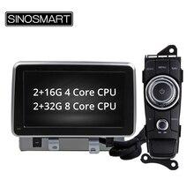 SINOSMART 4/8 Core CPU, Navigation GPS de voiture pour Mazda 2/CX-3 2015-2017 Canbus pour travailler avec le CD dorigine de voiture