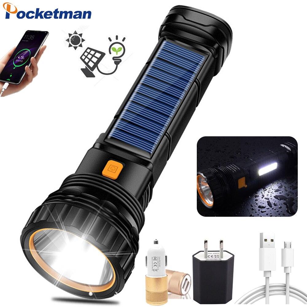 Фото - Мощное зарядное устройство на солнечной батарее фонарик USB Перезаряжаемые фонарик Открытый Кемпинг Фонарь Водонепроницаемый фонарик авар... фонарик эра va 801 usb зарядное устройство
