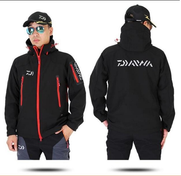 Outdoor Daiwa Fishing Clothing For Men Women Autumn Winter Waterproof Warm Fishing Jackets Patchwork Hooded Mountaineering Suits enlarge