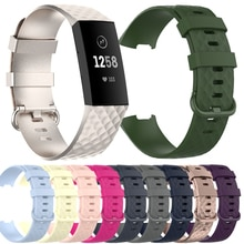 2021 New Silicone Bands For Fitbit Charge 3 4 SE Soft Women Men Bracelet Strap Correa For Fitbit Cha