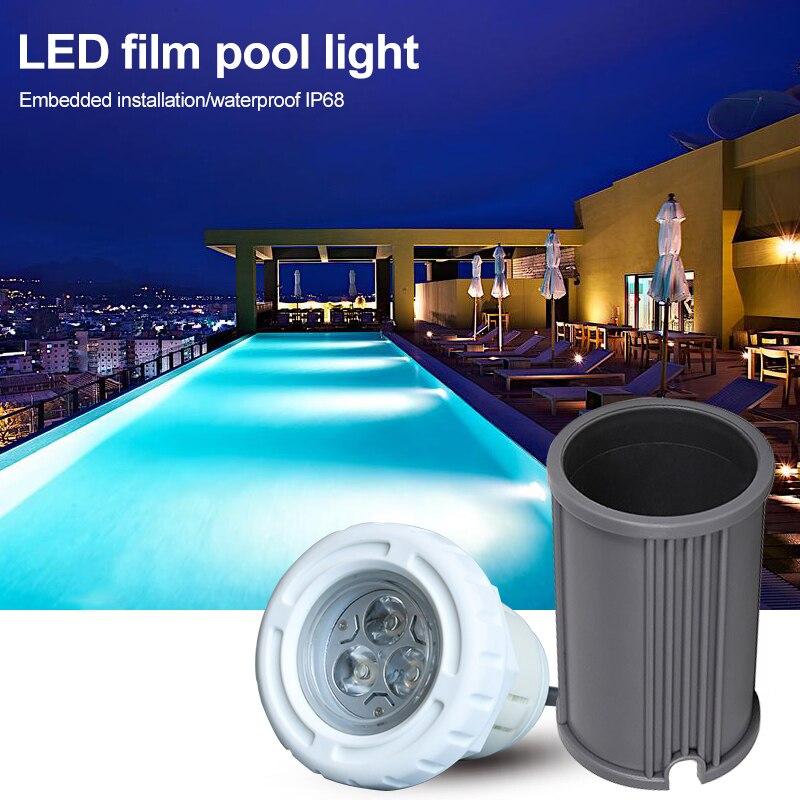 ABS LED إضاءة حمام السباحة/المسبح s acخزف سطح الخرسانة شنت غاطسة مصباح IP68 مقاوم للماء راحة إضاءة حمام السباحة/المسبح 3 واط 6 واط حمام سباحة مصباح