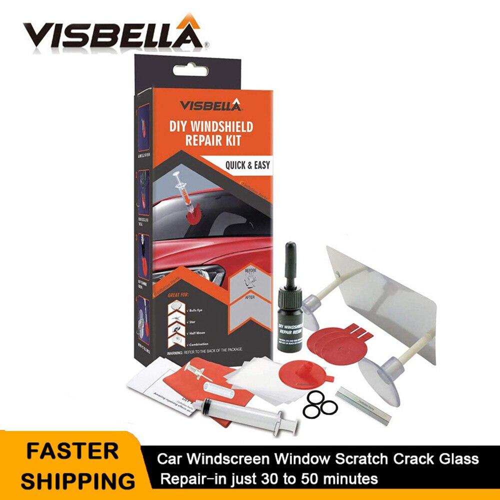 Набор для ремонта ветрового стекла VISBELLA, набор для ремонта ветрового стекла, renwal Инструменты для ремонта ветрового стекла, трещина от царап...