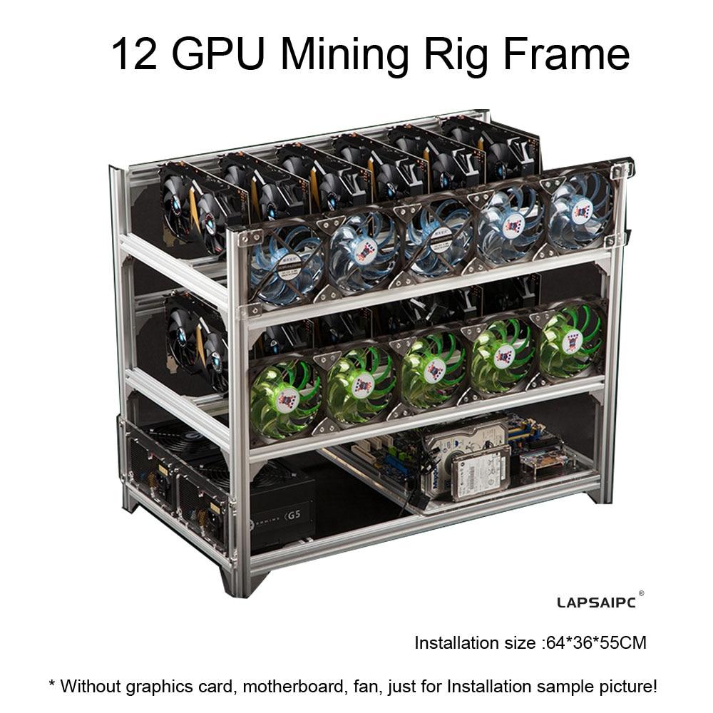 جهاز تعدين الإطار 12 وحدة معالجة الرسومات المفتوحة حفرة آلة استخراج المعادن الإطار حالة التعدين عملة حلقة دعم قوس إطار إطار نقل التعدين الرف