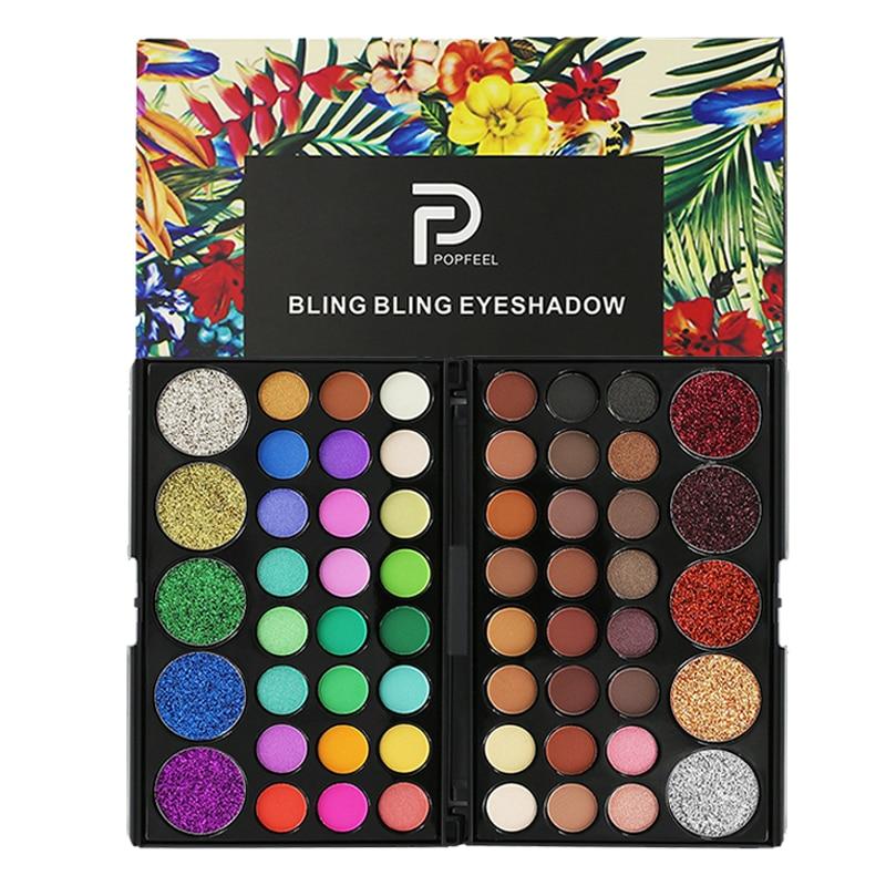 Eye Makeup Nudes Palette  29 Color Matte Eyeshadow Pallete glitter powder Eye Shadows Earth brush set stamps pigment