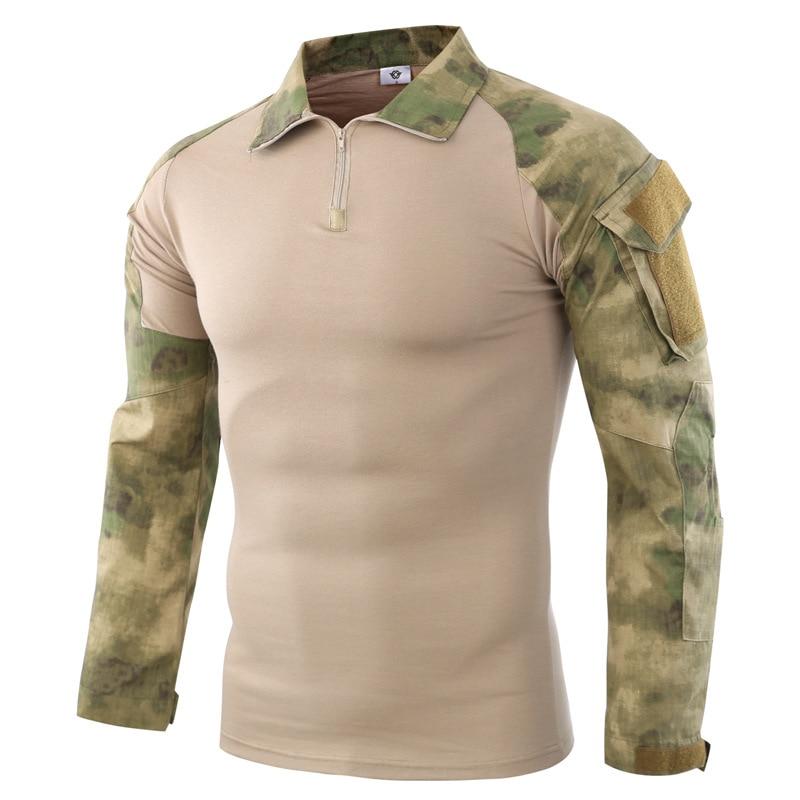 Accesorios para camiseta de manga larga de combate militar Rifle de aire de la selva para hombre