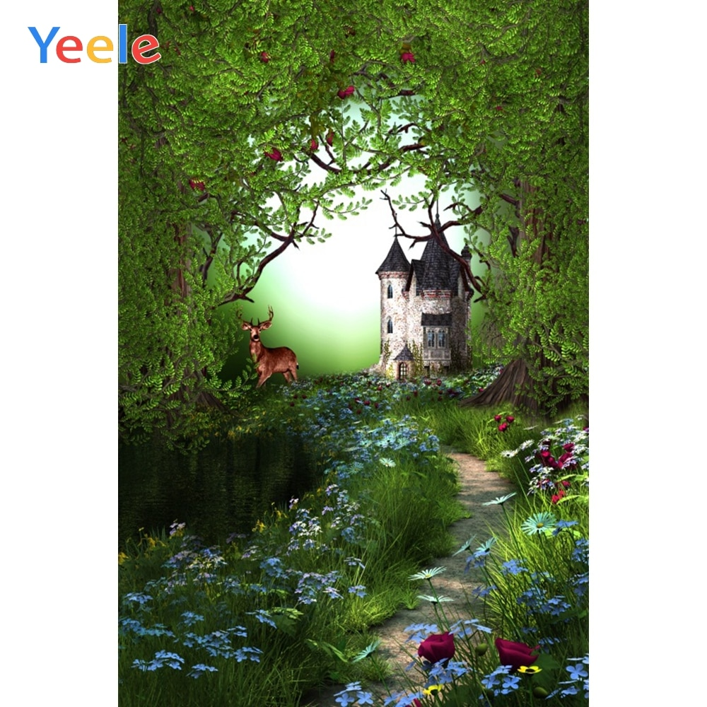 Yeele Fairy Dreamlike Nature Forest Deer Party Birthday Photophy Backdrops Customized Photographic Backgrounds For Photo Studio hot sale forest animals happy daily life squirrel fox deer good friends party fairy cartoon tales pillow case