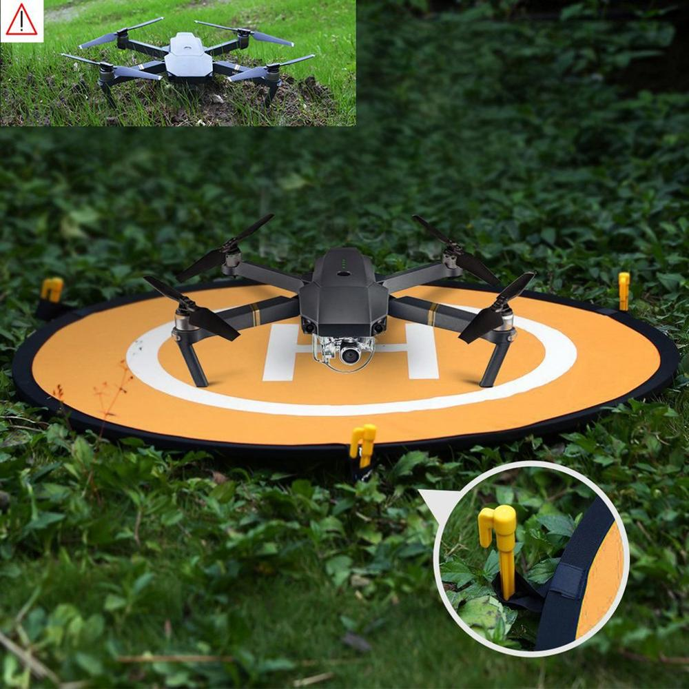 55cm Fast-fold Landing Pad Universal FPV Drone Parking Apron Foldable Pad For DJI Spark Mavic Pro FPV Racing Drone Accessory недорого