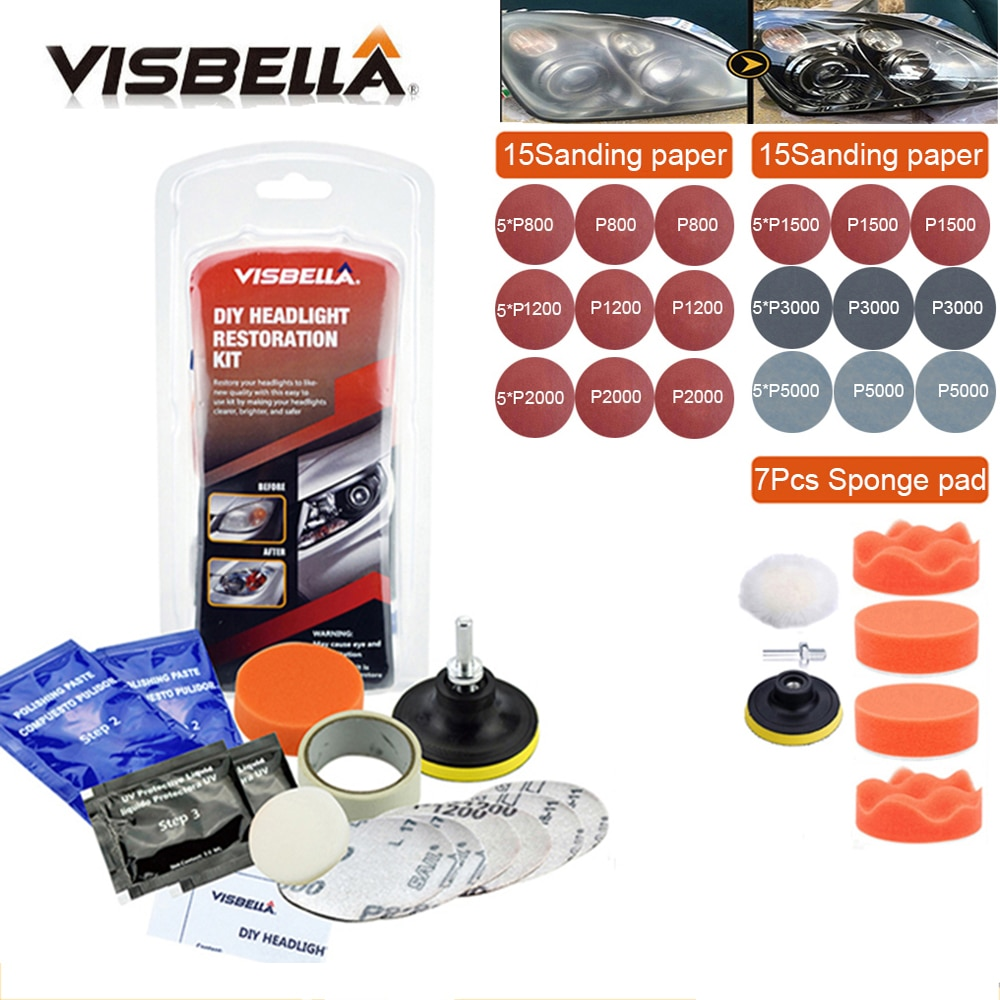 Car Headlight Restoration Polishing Kits Headlamp Repair Kits Car light Lens Polish Polisher Cleaning Paste Refurbish Paint Care  - buy with discount