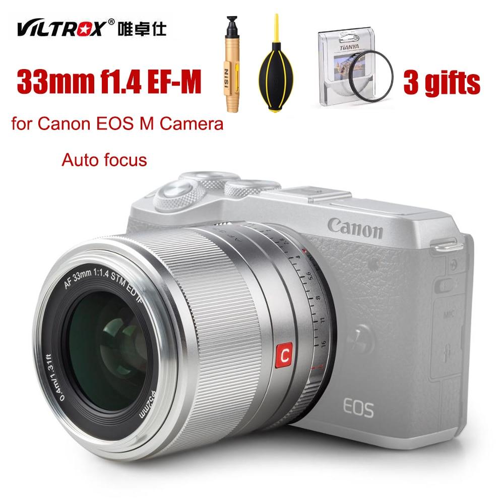 Viltrox AF 33 مللي متر f1.4 كاميرا عدسة EF-M STM السيارات التركيز رئيس عدسة EOSM 33F1.4 APS-C لكانون EOS M جبل ل EOS M M200 M5 M6