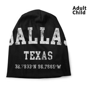 Dallas Texas Distressed Sport Style Spring And Autumn Unisex Beanie Knitted Hat Texas Dallas Austin Houston State Tx San