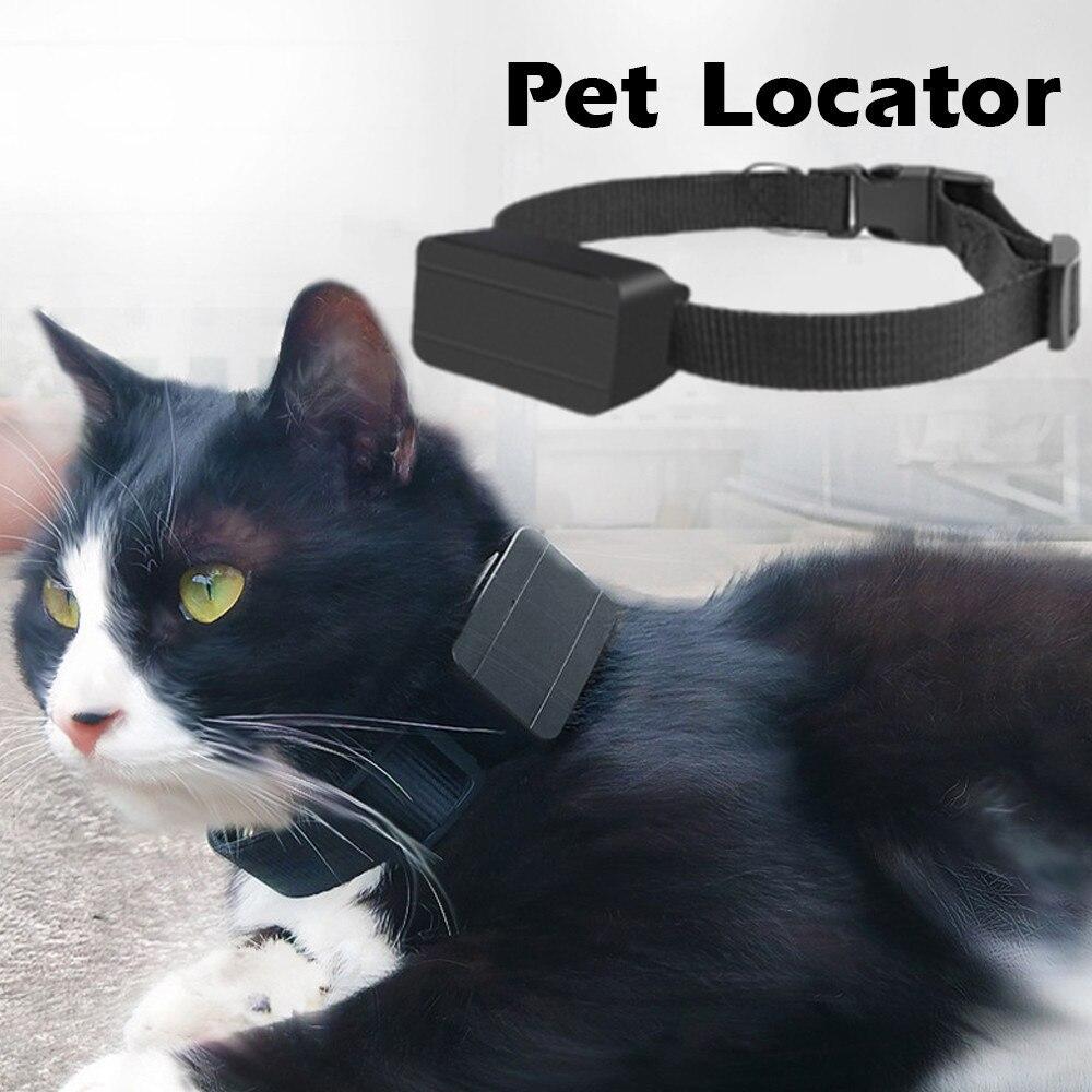 Collar impermeable para mascotas GSM AGPS Mini rastreador GPS ligero para mascotas perros gatos ganado ovejas Anti-Pérdida localizador de seguimiento recargable