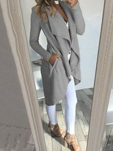 2019 automne femmes longue cascade ouvert avant manteau veste dames Cardigan pardessus pull grande taille S-2XL