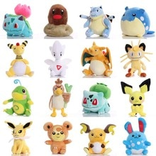Pikachued Bulbasaur Charmander Eevee Squirtle Snorlax Mewtwo Plush Toy Totodile ice Vulpix Cute Anim