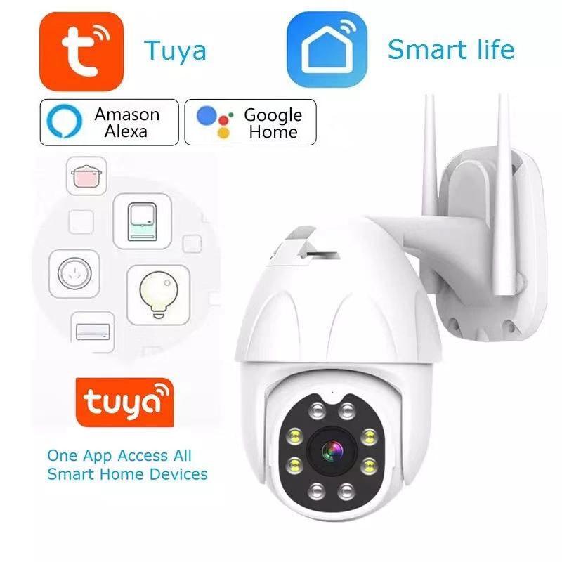PTZ IP Camera Outdoor Tuya Smart Life Google Home Alexa1080P 2MP P2P WiFi Security Camera Auto Tracking