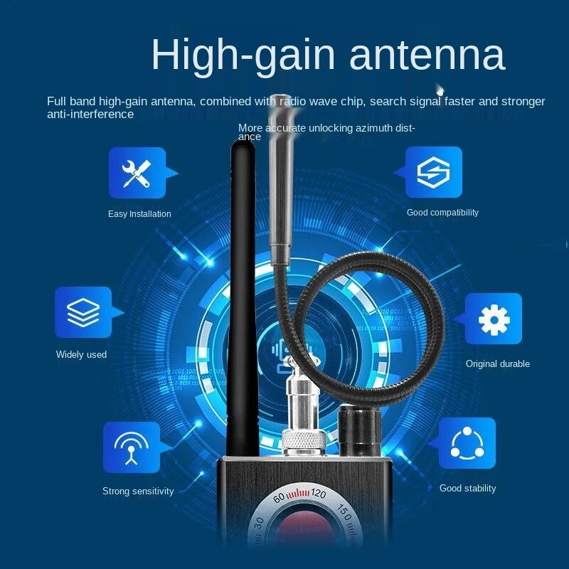 Anti listening and jamming GPS anti tracking and positioning special shield instrument dismantling and finding signal K88 enlarge