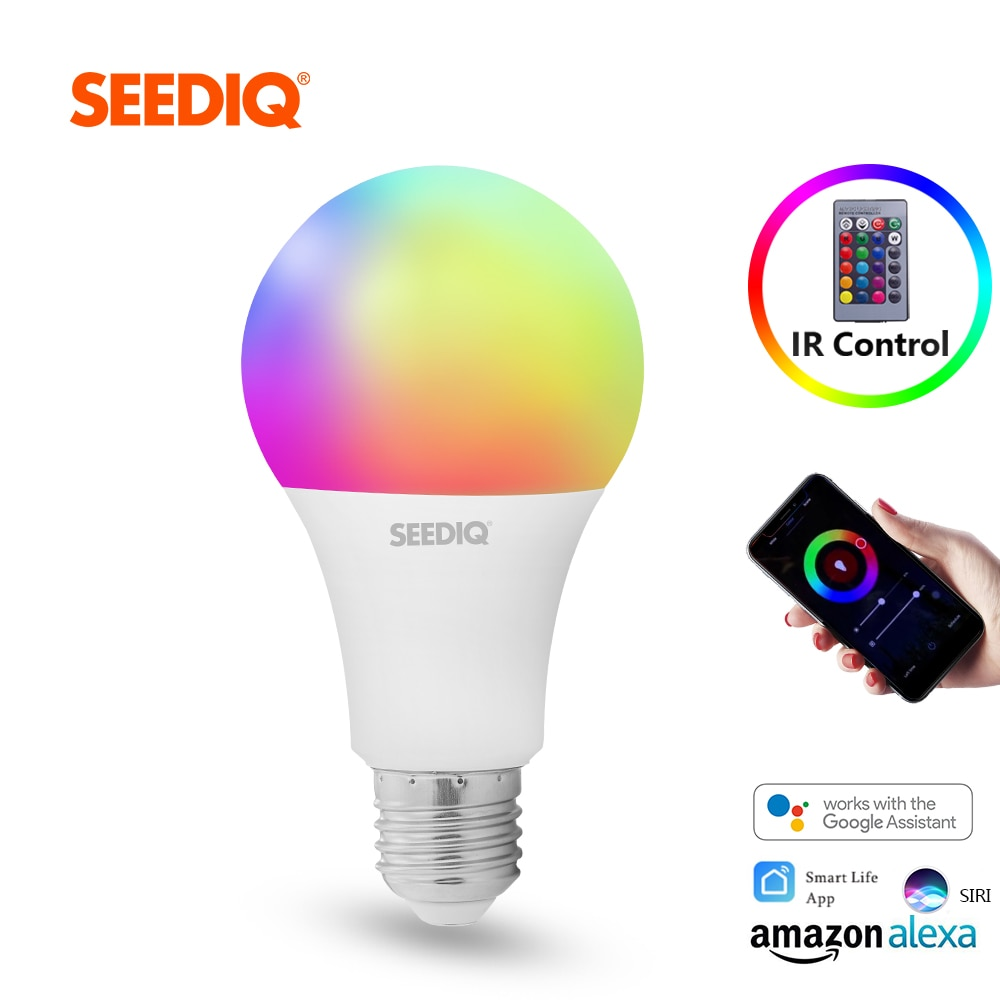 Bombilla Led E27, Bombilla inteligente RGB regulable, 10W, 15W, CA, 220V, 110V, Bombilla inteligente Wifi, lámpara mágica RGBW RGBWW con Control remoto IR