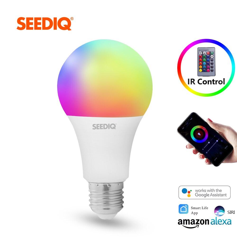 Led-lampe E27 Dimmbare RGB Intelligente Birne 10W 15W AC 220V 110V Smart Glühbirne Wifi magie Lampe RGBW RGBWW mit IR Fernbedienung