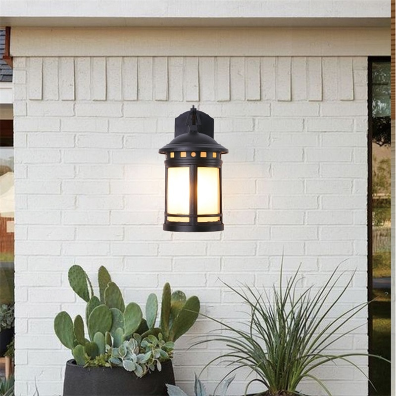 Hongcui Outdoor Retro Wall Lamp Classical Sconces Light Waterproof IP65 LED For Home Porch Villa enlarge