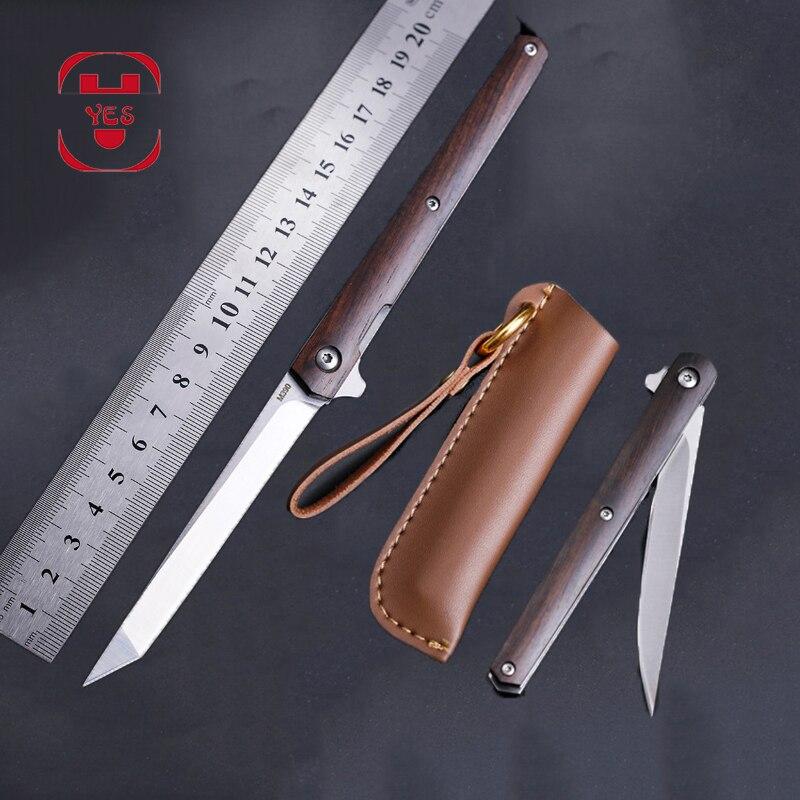 M390 стальной складной нож CS Go из твердой древесины портативный карманный кобура складной нож Походный охотничий нож нарезка фруктовые ножи инструмент для повседневного использования