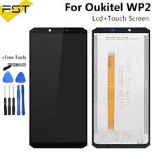 Zwart 6.0 Voor Oukitel WP2 Lcd-scherm + Touch Screen Screen Digitizer Vergadering Reparatie Onderdelen + Tools + Lijm Lcd glas Panel