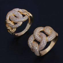 Noiva falar de luxo zircônia cúbica anéis de casamento para mulheres jóias de noivado nupcial cz acessórios femininos por atacado anéis de dedo