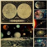 WTQ     toile de peinture sur les neuf planetes du systeme solaire  une piece  affiche retro  decor mural  Art mural  decor de salle