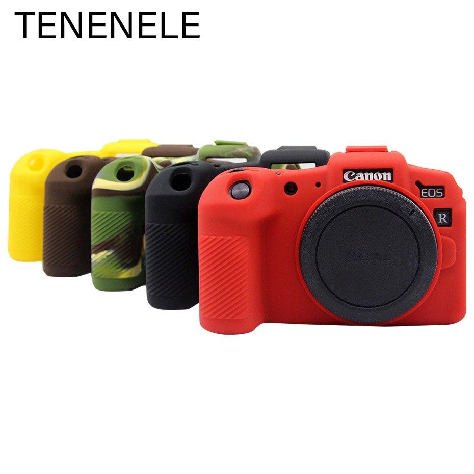 Bolsas de cámara para Canon EOS R RP fundas de silicona suave protección de la Cámara bolsa de cuerpo para EOS RP cubierta de goma de Color batería de la caja de apertura