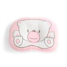 KUBEAR-almohada de enfermería con estampado de oso de dibujos animados para bebé, cojín cóncavo de apoyo para dormir, para prevenir la cabeza plana, BYA001 PR49