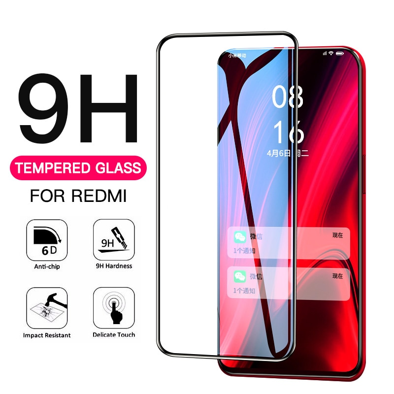Cubierta completa de vidrio Protector para Xiaomi Redmi Note 8 Pro 7 Protector de pantalla para Redmi K20 Pro 7A 8A S2 película dura de vidrio templado