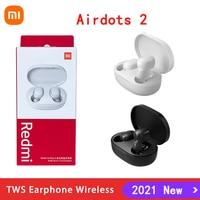 Новинка 2021, белые наушники Xiaomi Redmi AirDots 2, Bluetooth наушники, TWS Mi True Wireless Airdots2, шумоподавляющие наушники
