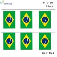 morning 1421cm brazil national home decoration bunting flag
